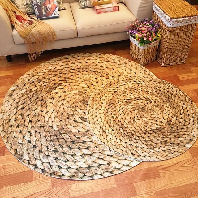 Grote Ronde Tapijt 120 cm mat Japanse moderne minimalistische ...
