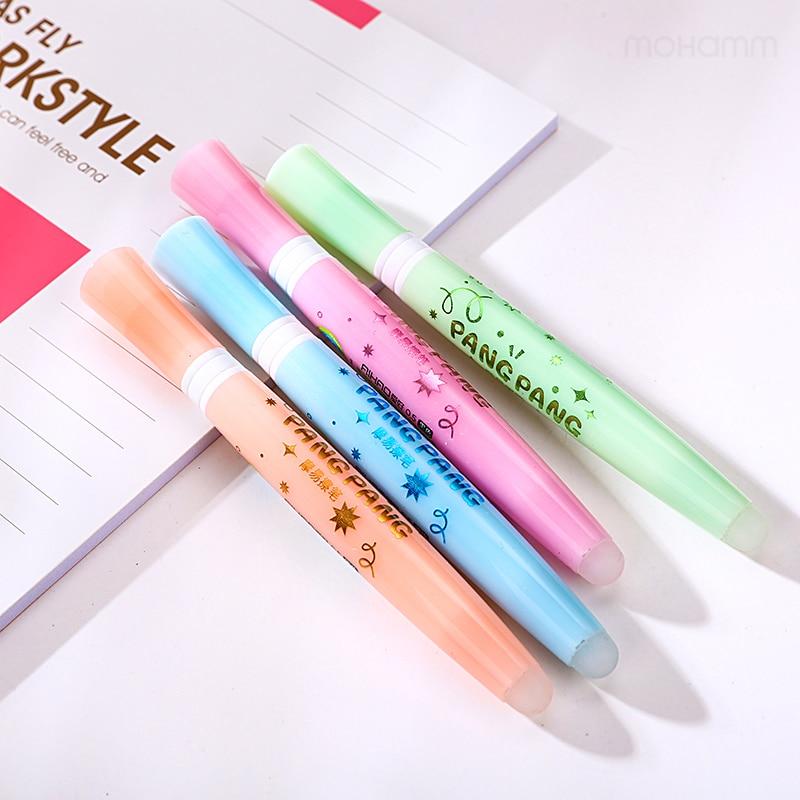 48 Pcs/lot 0.5mm Cute Kawaii Aihao Eraserble Gel Pens Black Blue Ink With Gel Pen Erasers Kids School Office Supplies Stationery