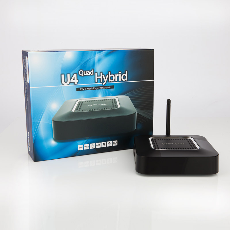 US $119 99 |KODI TVHeadEnd 4K Ultra HD U4 Quad Hybrid with ATSC Android 4 4  KitKat IPTV &Media Player for North America on Aliexpress com | Alibaba