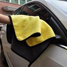 Auto waschen 30x30cm verdicken wasser absorption korallen fleece auto reinigung handtuch doppelseitige hohe dichte scheibe reinigung zubehör