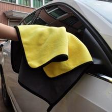 Lavagem de carro 30x30cm engrossar absorção de água coral velo toalha de limpeza de carro dupla face alta densidade disco limpeza acessório