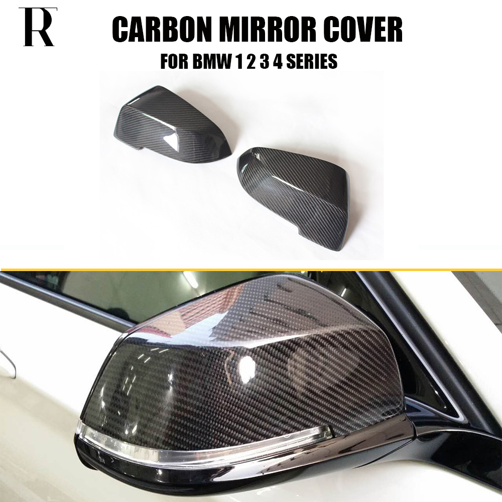 Carbon Fiber Rear View Mirror Cover for BMW F20 F21 1 Series F22 F23 2 Series F30 3 Series F32 F33 F36 4 Series E84 X1 12 - 17