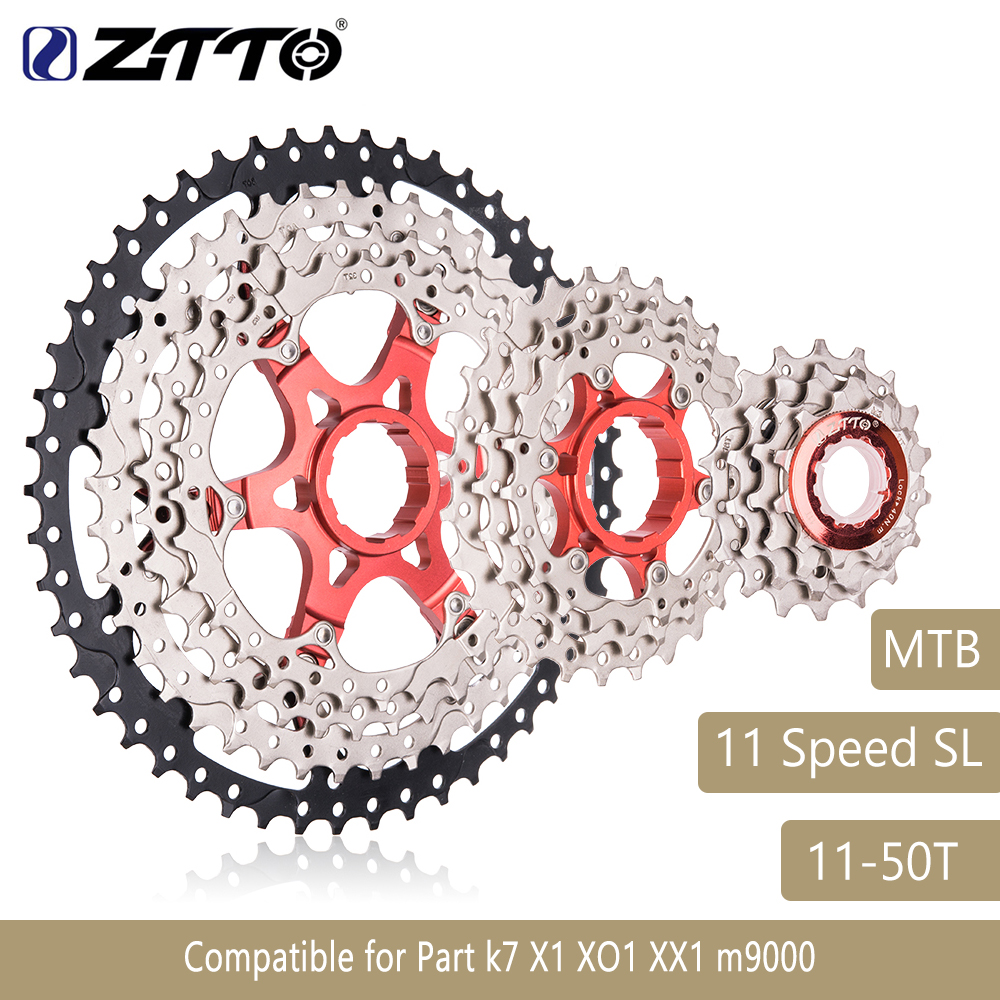 MTB 11Speed SL Cassette 11s 50t Wide Ratio UltraLight Freewheel Mountain Bike Bicycle Parts for k7 X1 XO1 XX1 m9000 ZTTO все цены
