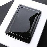 case ipad SLINE TPU Case For Apple Ipad Air 2 Case Black Silicon Soft Protection Cover For iPad air 2 iPad 6 iPAD6 Soft Tablet Bumper Bag (3)