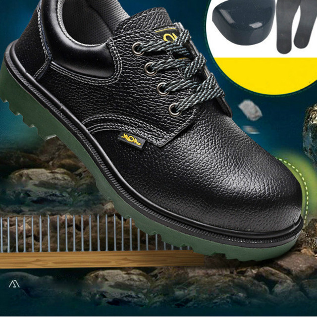 2018 Men Steel-Toe Safety Shoes Fashion Hiking Boots Construction Work Shoes 3
