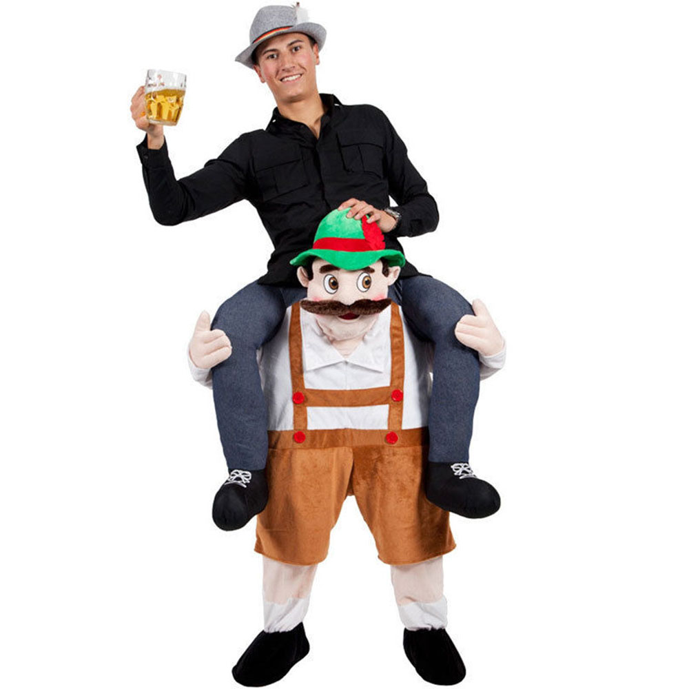 Oktoberfest Old Man Magic Pants Spoof Prosthetic Leg Pants Cycling Animal Back Pants Cosplay Costume