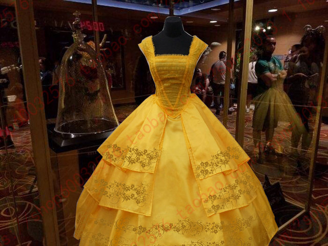 11 Deluxed 2017 Belle Yellow Dress Beauty And The Beast Costume For Adults
