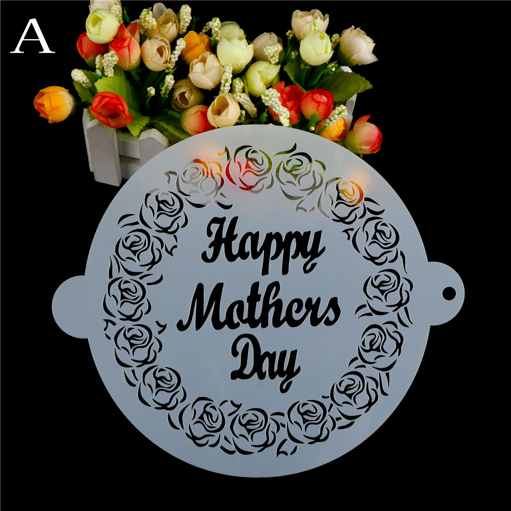 Happy Kitchen Decoration Cake: MENGXIANG Happy Mothers Day Tiger Wedding Decoration Fondant Cake Stencil Kitchen Cupcake