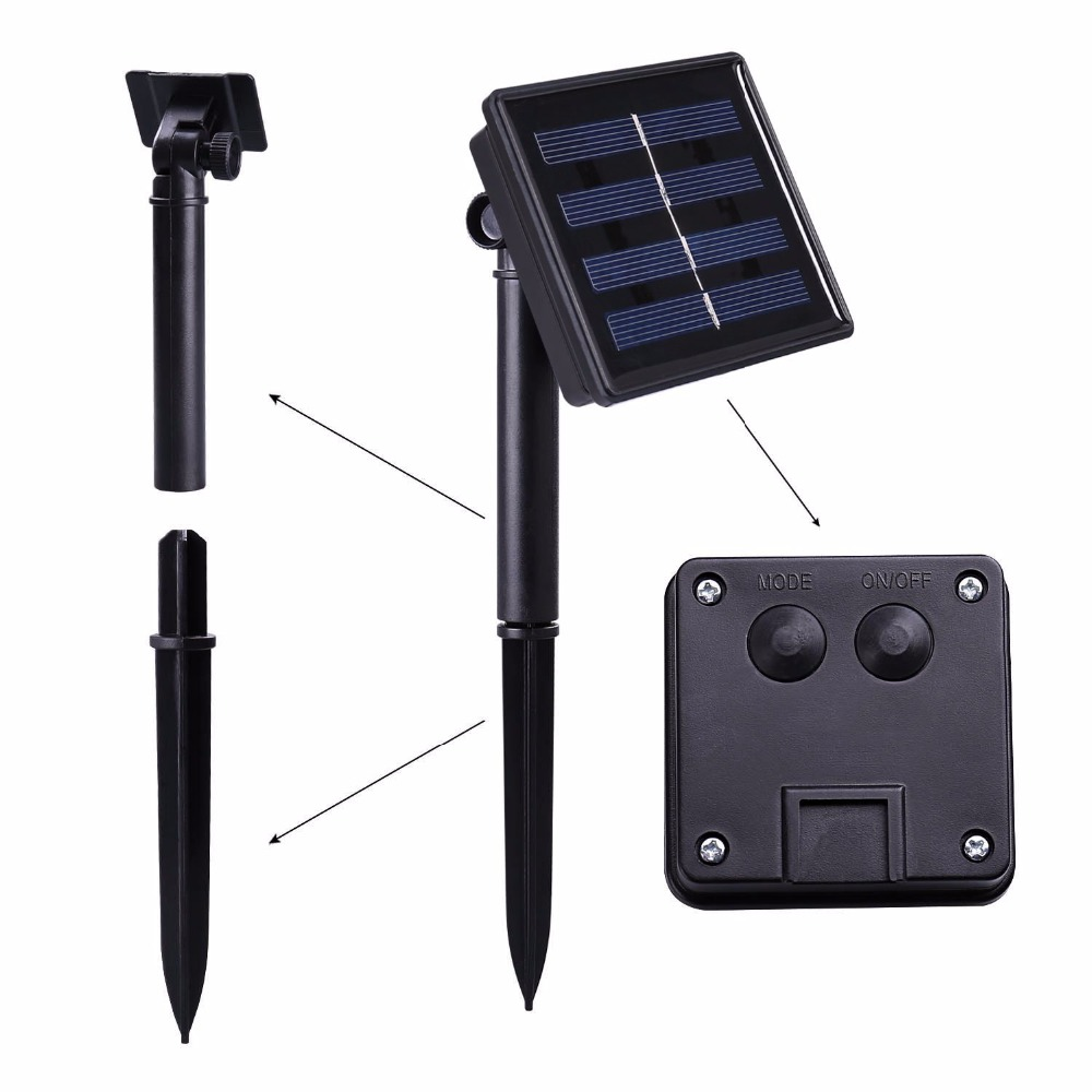 Neue 40 LEDs Wasserdichte Bunte Schmetterling Girlande Fee Solar ...