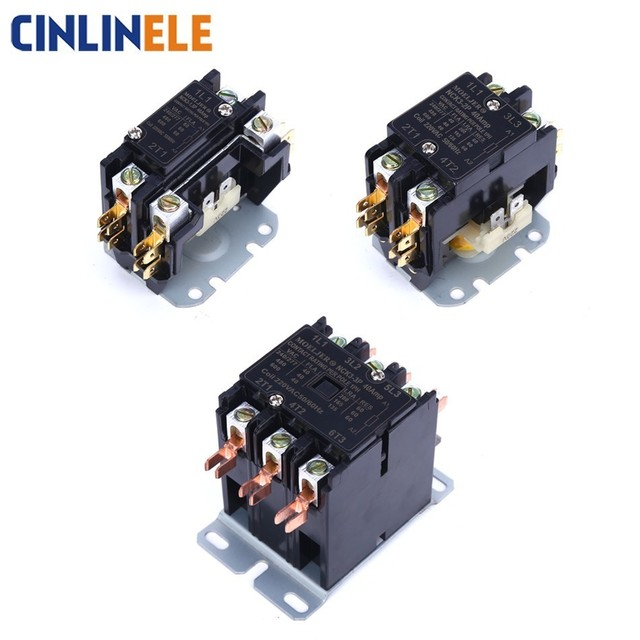 Free Shipping AC Contactor of Air Conditioning Parts Tool 1.5P 3500W 2P 5000W 3P 7500W Air Conditioning Protector 110V 220V-250V