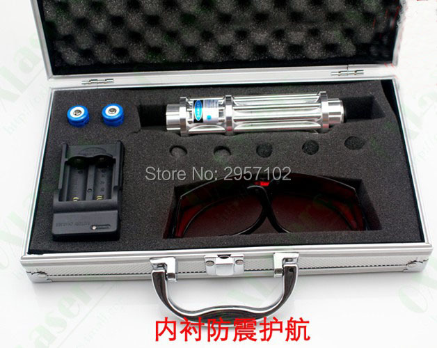 цены High Power Military Blue laser pointers 200000m 20w 450nm Burning Match/dry wood/candle/black/Burn cigarettes+Glasses+Gift Box