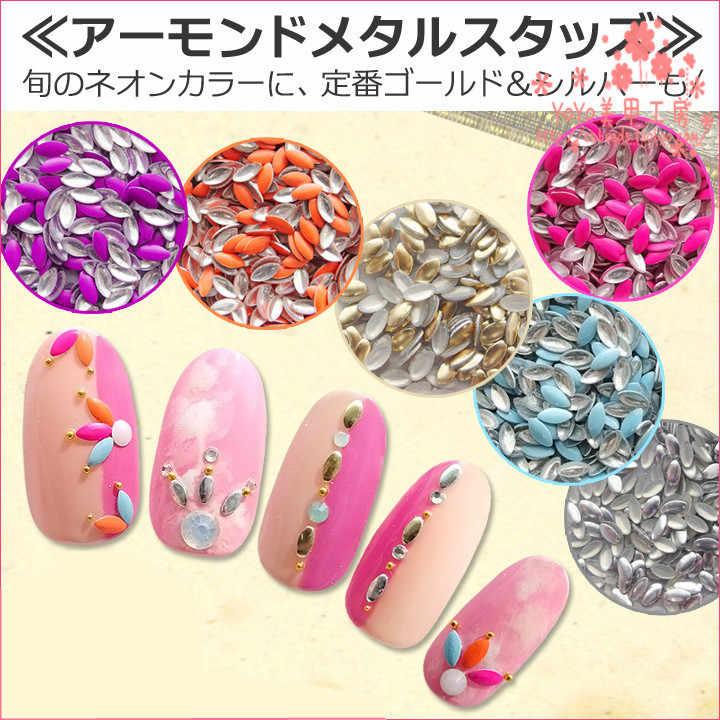 YWK 1 упаковка 20 шт микс случайных цветов 3 мм * 6 мм конский глаз в форме панк металлическая заклепка для украшения ногтей