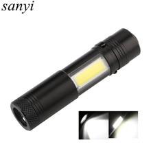 800LM Mini Portable LED Flashlight Torch with Clip XPE LED+COB LED Flashlight 4 Mode Penlight Hunting Camping Light Use AA/14500