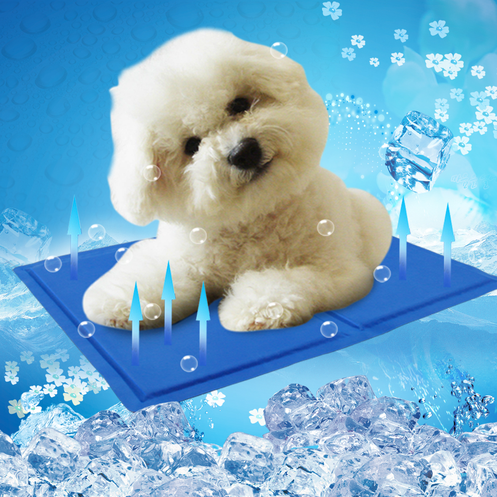 summer dog cat self cooling mat folding pad ice cool cushion for kennels and bed small size 30x40cm bule color