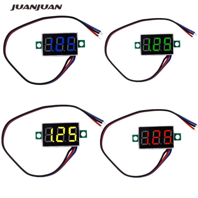 Red LED Display Mini 0.36 Inch DC 0-100V Digital Voltmeter 100V Volt Panel Indicator Monitor Voltage Meter 40%off