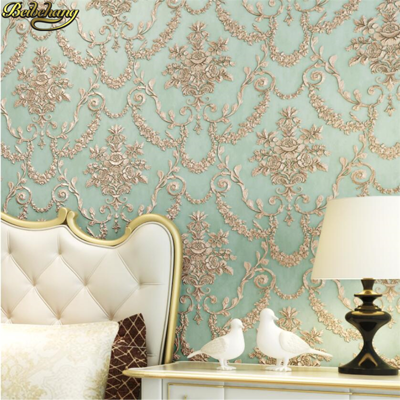 beibehang 3D Engraving Wallpaper Retro European AB Bedroom Living Room TV Background papel de parede wall papers home decor beibehang papel de parede 3d stereo fine simple european style bedroom living room tv background wall full of wallpaper
