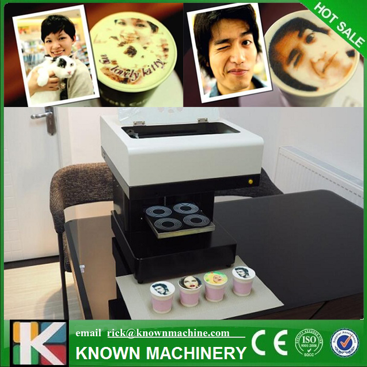 4 cups Selfies Coffee Printer Milk tea Yogurt Cake Printing Machine coffee printer food printer inkjet printer selfie coffee printer full automatic latte coffee printe wifi function