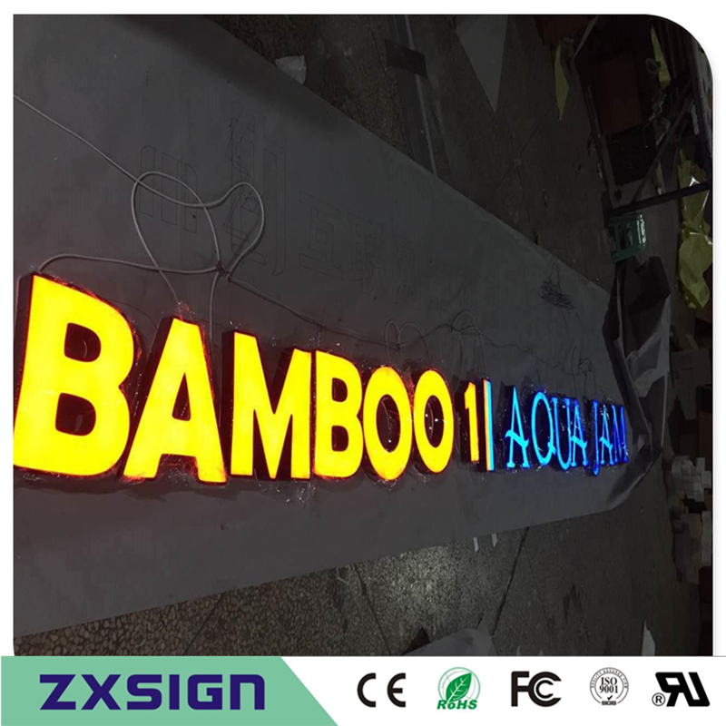 Factory Outlet Outdoor Acrylic Front Lighted Up Led Letter Shop Name Signs, Custom Lightbox Letters For Advertising Signages