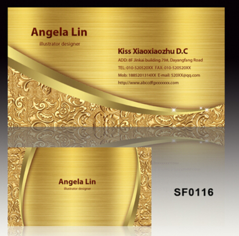 200 pcs golden metal business card and 100pcs silver metal card 200 pcs golden metal business card and 100pcs silver metal card printing wholesale reheart Images