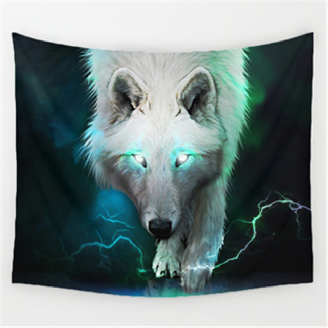 3D print The forest wolf pattern Polyester Tapestry size 150x130 cm Beach Blanket Room Divider Yoga Beach fashion Tapestry