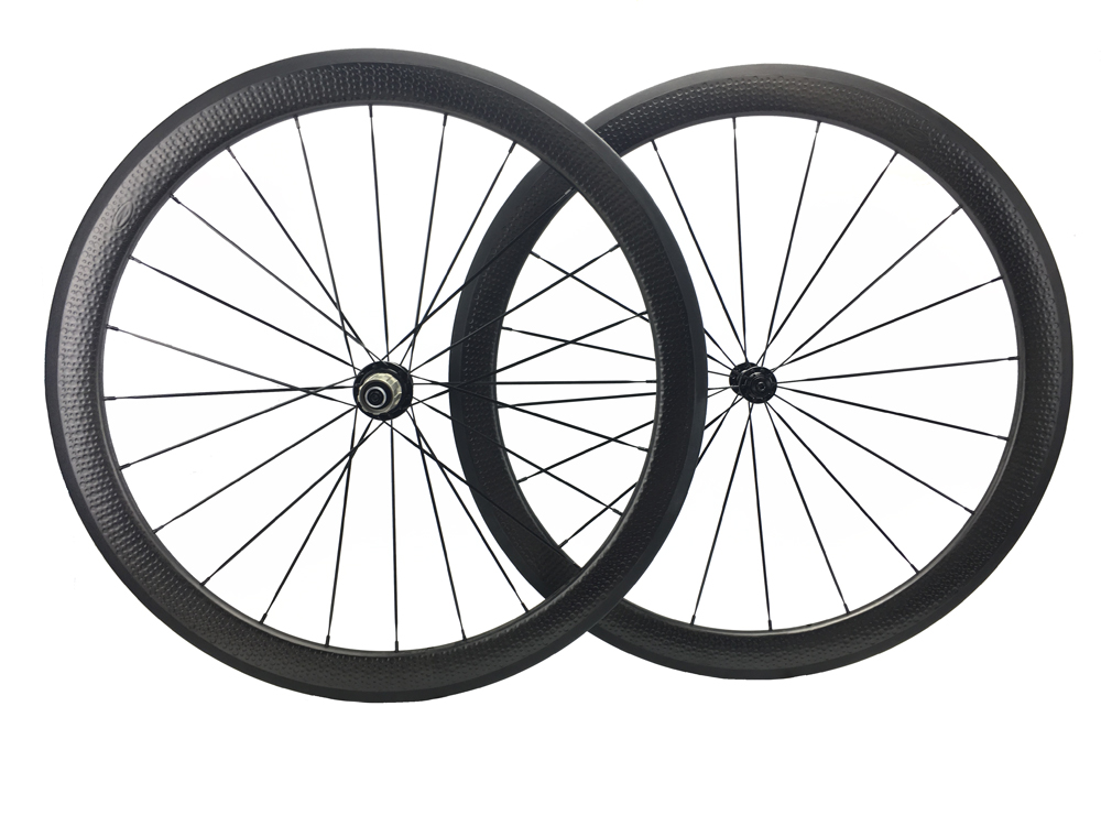 Full Carbon Road Wheel Dimple Carbon Bike Cycling Wheelset58mm Bicycle 700C Clincher Tubular free stikcers