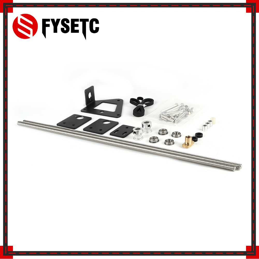 3D Printer Part Dual Z axis Upgrade Kit Dual Z Tension Pulley Set For Creality Ender-3 3D Printer Single Motor Dual Z-axis
