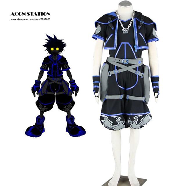 2017 Free Shipping high quality Kingdom Hearts Anti Sora Adult Men Cosplay  Costume