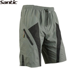 SANTIC Triathlon Men's Polyester 1/2 Leisure With 3D Padded Lining Underwear Bike Bicycle Cycling Sportswear Shorts