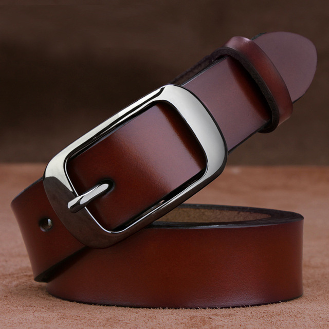 Brand Design Genuine Leather Womens Belts Luxury 100% Cowhide Belt Strap High Quality Belts For Female MB16316