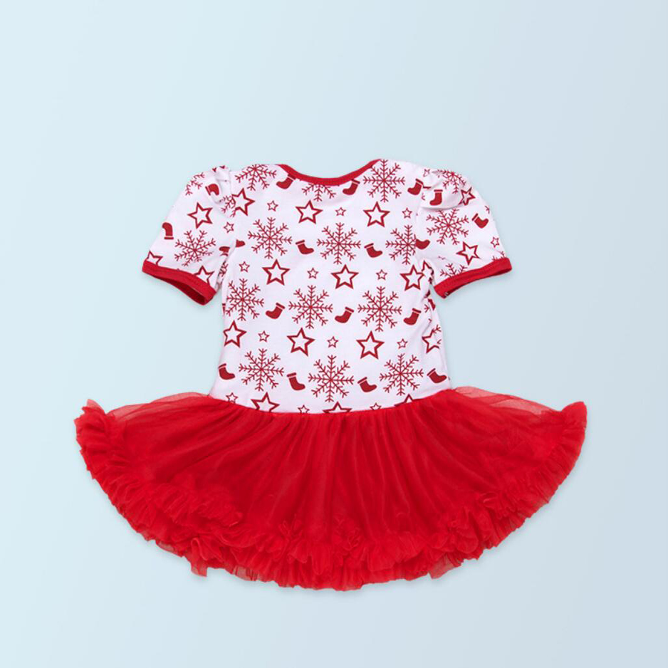 df91d9197 Aliexpress.com : Buy 4PCs per Set Short Sleeves Baby Girl Christmas  Snowflake Tutu Dress Infant 1st 2nd Xmas Party Outfit Leg Warmers Shoes  Headband from ...