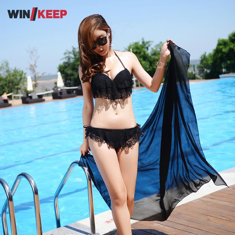 Summer New Arrival Womans Sexy Lace Halter Beach Bikini Women Low Waist Sexy Swimsuit Biquini Brazilian Bikinis Free Shipping new women sexy brazilian bikinis brand beach swimsuit bright colors halter tube