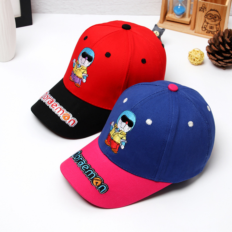 2018 New Japanese Anime Embroidery Doraemon Baseball Caps Boys Girls DORAEMON Snapback Hat Children Adjustable Hip-Hop Hats