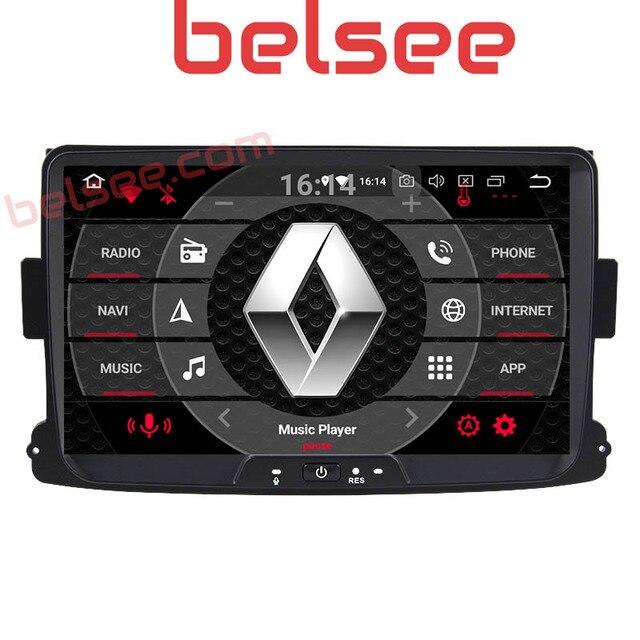"""Belsee 8 """"Android 8,0 Автомобильный мультимедийный плеер авторадио gps автомобильный Радио Navi 2 Din Renault Duster Dacia Sandero Logan Dokker Captur"""