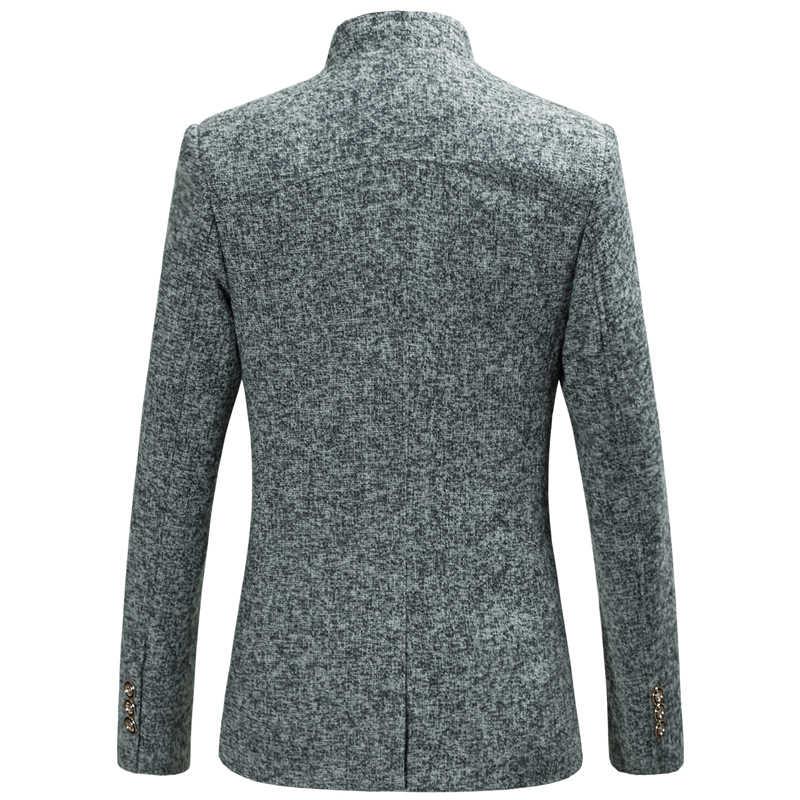 HCXY 2019 männer Retro Chinesischen kragen casual Anzug jacke männer Business blazer männer große größe jacken mantel M-6XL