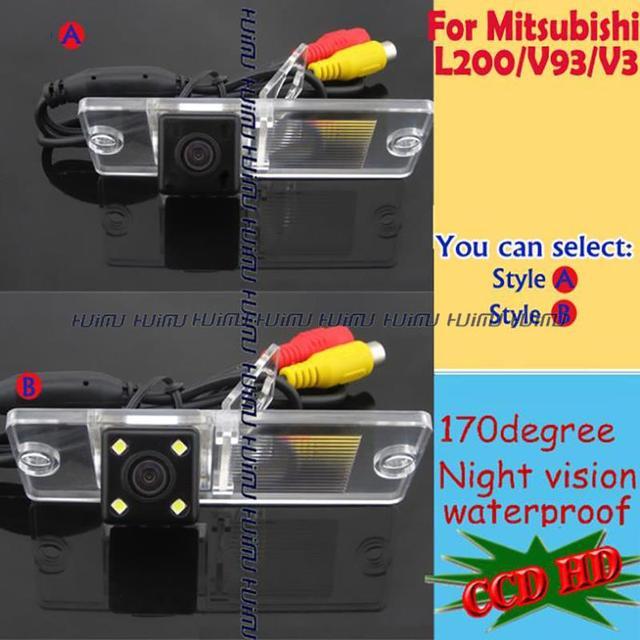 Sem fio com fio para sony ccd câmera de visão traseira do carro invertendo estacionamento para Mitsubishi Mitsubish Pajero/Zinge/V3/V93/V5/L200/V97