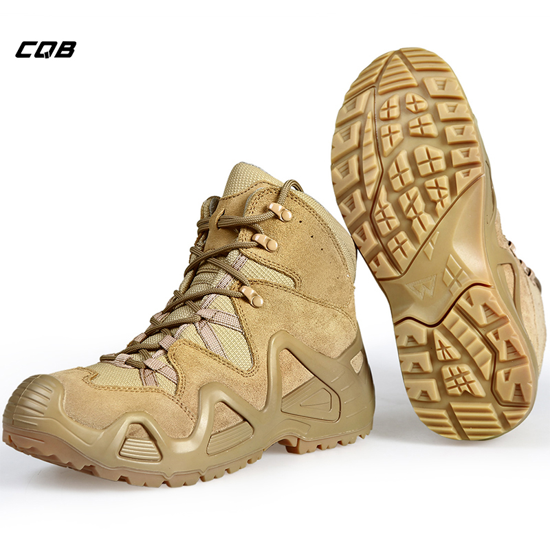 CQB Outdoor Sports Tactical Mountain Climbing Boot Menn Slitebestandig Sko Ikke-glatt Stort Trekking Sko for Vandring