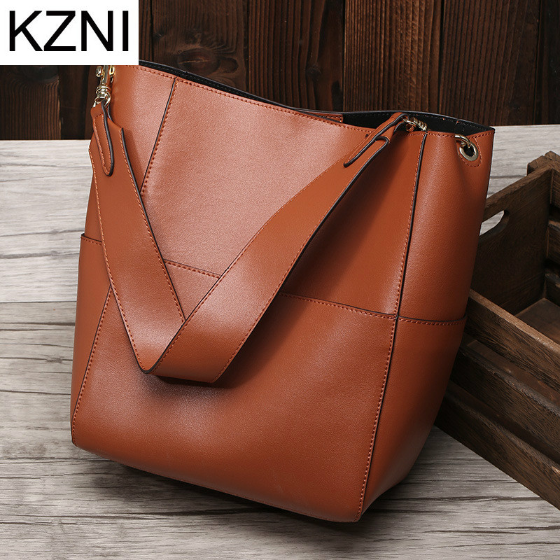 KZNI Genuine Leather Purse Shoulder Women Bag Clutch Female Handbags Sac a Main Femme De Marque Bolsas Feminina L111322