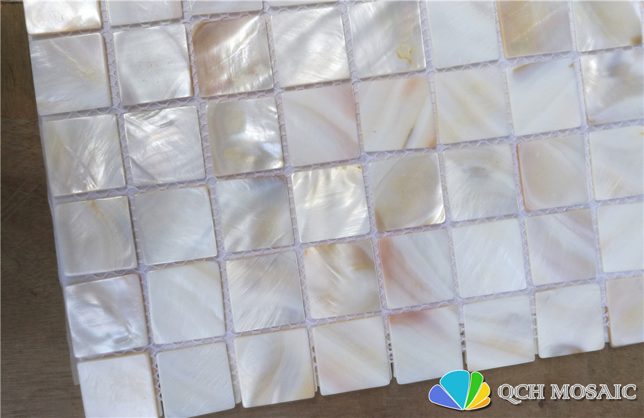 Купить с кэшбэком Freshwater shell mother of pearl mosaic tile for kitchen backsplash and bath room natural color 11 square feet/lot