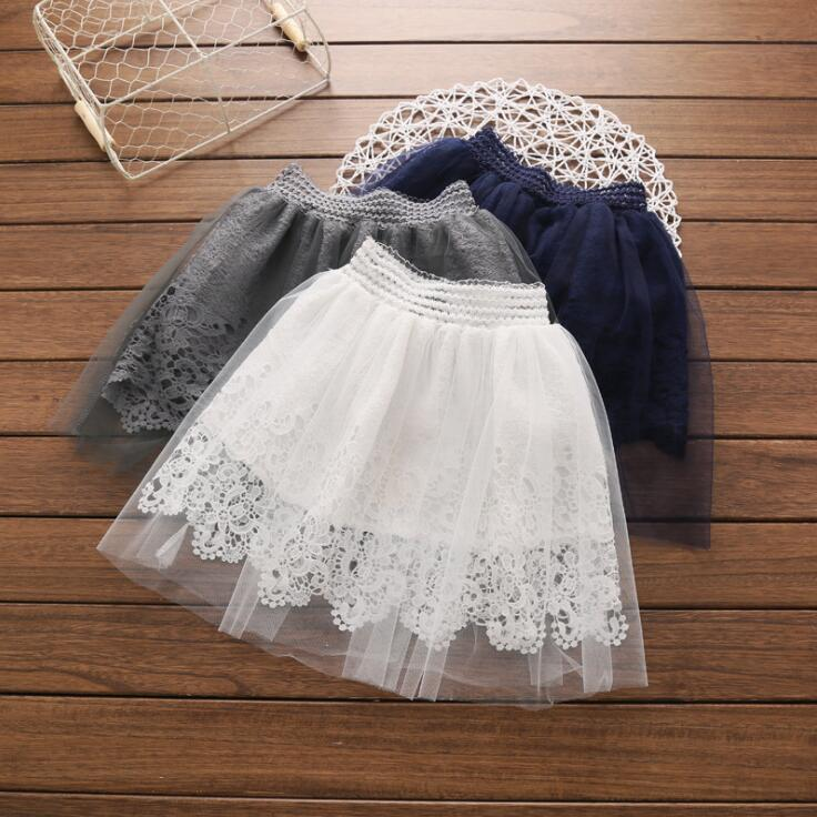 Lovely Baby Girls Princess Lace Princess Dress Denim Tulle Skirt Toddler Clothes