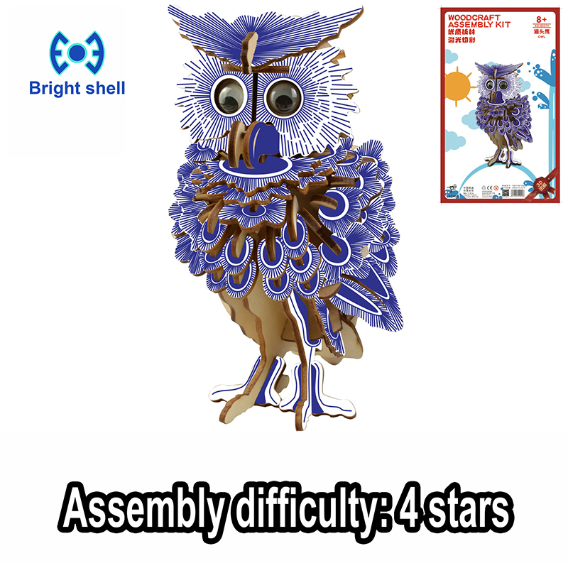DIY 3D Arts And Crafts Handmade Wooden Craft Toys For Children Kid Best Gift Party Arts Puzzles Model Decoration Birthday Gift