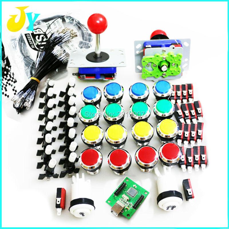 Us 1757 5 Offdiy Arcade Kast Onderdelen Bundels Kit Joystick Verchroomd Verlichte 12 V Drukknop Pc Ps3 Arcade Usb Controller Jamma Mame In Arcade