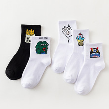2018 Spring/Summer New Happy Japan South Korea Harajuku Style High Street Funny Socks Cotton Alphabet Womens College Wind