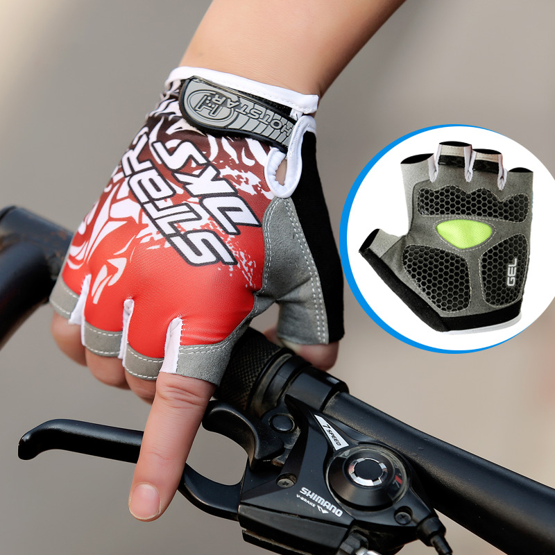 Summer Breathable Silicone Gel Bicycle Gloves Half Finger Cycling Glove Female Anti-Slip MTB Mittens Lycra For Men Women Cycling racmmer cycling gloves guantes ciclismo non slip breathable mens