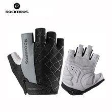 ROCKBROS – gants de vélo demi-doigt, antichocs, respirants, pour vtt