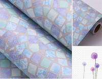 0 45m 1m Light Purple Self Adhesive Wallpaper PVC Stickers Kitchen Mosaic Tile Bathroom Walls Decal
