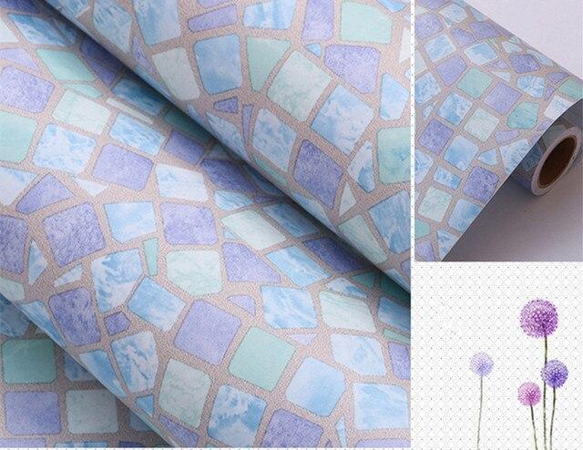 0.45 m * 1 m violet Clair Auto adhésif Papier Peint PVC Autocollants ...