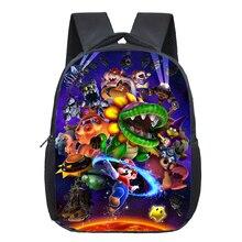 13 Inch Super Mario Bros Kids Backpack Kindergarten School Bag Children Printing Girls Boys Mochila