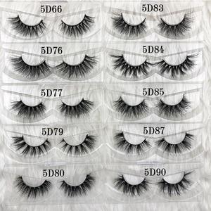 Image 2 - Half 3d Mink Fur Lashes 100% Real Dense 3d Mink False Lash Faux Short Style Strip Eyelashes