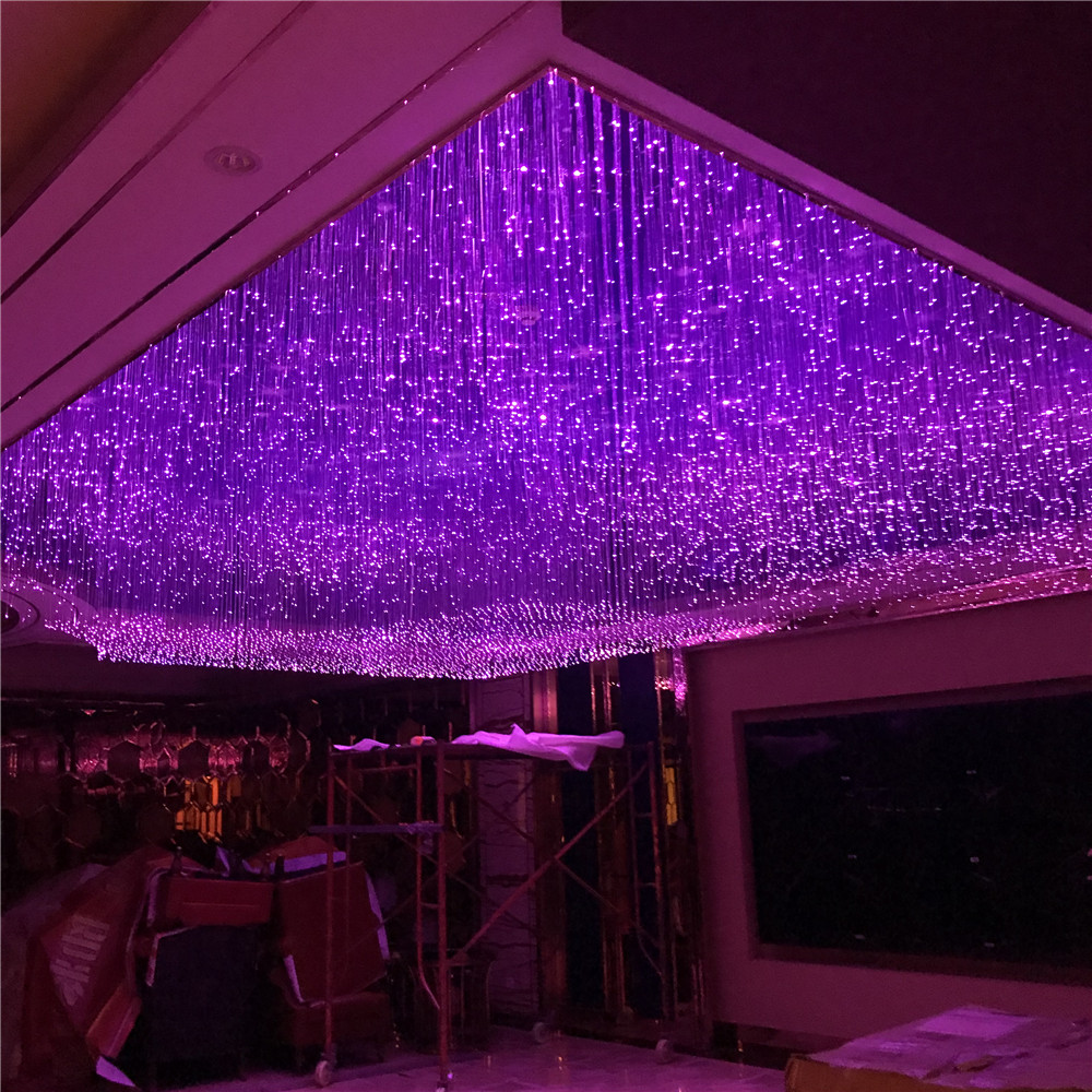 LED Decorating Effect Plastic Optical Fiber Side Pointed Lighting Strands 400pcs 0.75mm Length 3m for Hall Ceiling ChandelierLED Decorating Effect Plastic Optical Fiber Side Pointed Lighting Strands 400pcs 0.75mm Length 3m for Hall Ceiling Chandelier