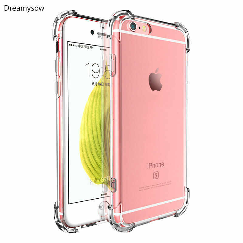 Clear Protective Case For iPhone X XS MAX XR Full Protection Drop Resistant Anti-knock For iPhone X 11 Pro Max 5S 6 6s 7 8 plus